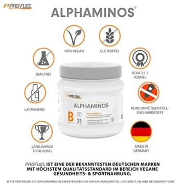 BCAA Pulver (Aminosäuren) sensationeller Geschmack | Aminos 2:1:1 (Leucin, Isoleucin, Valin) Hochdosiert, Vegan | Für Muskelaufbau, Abnehmen & Sport | PROFUEL Alphaminos 300g - KIRSCHE - 3