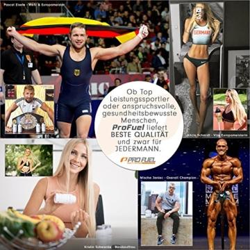 BCAA Pulver (Aminosäuren) sensationeller Geschmack | Aminos 2:1:1 (Leucin, Isoleucin, Valin) Hochdosiert, Vegan | Für Muskelaufbau, Abnehmen & Sport | PROFUEL Alphaminos 300g - KIRSCHE - 4