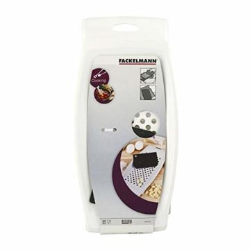 FACKELMANN Spätzlereibe mit Teigschaber, Spätzlehobel aus Kunststoff, Spätzlepresse mit Teigkarte (Farbe: Weiß), Menge: 1 Stück - 5