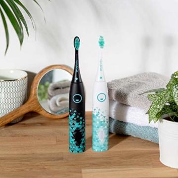 happybrush® Elektrische Schallzahnbürste | Elektrische Zahnbürste Schall VIBE 3 Weiß mit Aufsteckbürste, 3 Ersatzbürsten & Zahnpasta für Weiße Zähne - 4