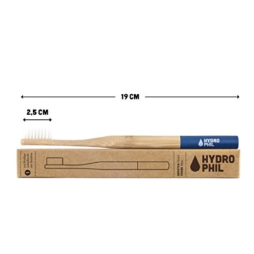 HYDROPHIL nachhaltige Zahnbürste aus Bambus blau extraweich 4er Pack weich - 2