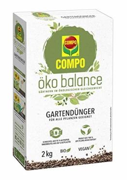 Compo öko balance Gartendünger, Für alle Pflanzen geeignet, Bio, Vegan, 2 kg - 1