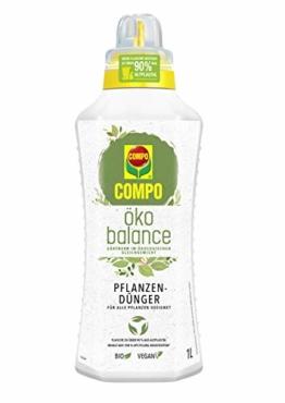 Compo öko balance Pflanzdünger, Für alle Pflanzen geeignet, Bio, Vegan, 1 Liter - 1