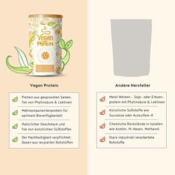Vegan Protein | COOKIE DOUGH | Pflanzliches Proteinpulver aus gesprosstem Wildreis und Kürbiskernen | 21g Protein pro Portion | 600 Gramm Pulver - 3