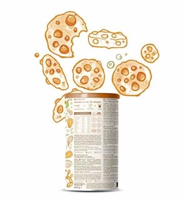 Vegan Protein | COOKIE DOUGH | Pflanzliches Proteinpulver aus gesprosstem Wildreis und Kürbiskernen | 21g Protein pro Portion | 600 Gramm Pulver - 4
