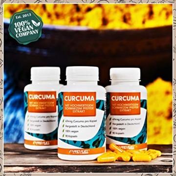 Curcuma Kapseln hochdosiert: EINE Curcuma-Kapsel entählt das Extrakt aus 23.700mg Kurkuma-Pulver - 100% natürliches Curcuma-Extrakt (C14 zertifiziert) + schwarzer Pfeffer-Extrakt - 90 Kapseln - vegan - 4