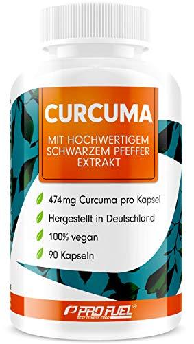 Curcuma Kapseln hochdosiert: EINE Curcuma-Kapsel entählt das Extrakt aus 23.700mg Kurkuma-Pulver - 100% natürliches Curcuma-Extrakt (C14 zertifiziert) + schwarzer Pfeffer-Extrakt - 90 Kapseln - vegan - 1