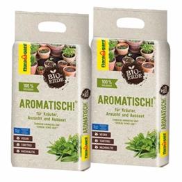 Floragard Bio-Erde Aromatisch 2x3 Liter - für Anzucht und Aussaat sowie für Kräuter - torffrei und vegan - 1
