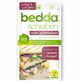 bedda - SCHEIBEN zum Schmelzen 180g Vegane Käsealternative Cremig, Würzig und Zartschmelzend - 1