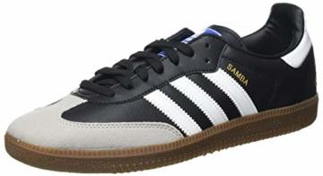 adidas Herren Samba Vegan Sneaker, Cloud White/Core Black/Gum, 45 1/3 EU - 1