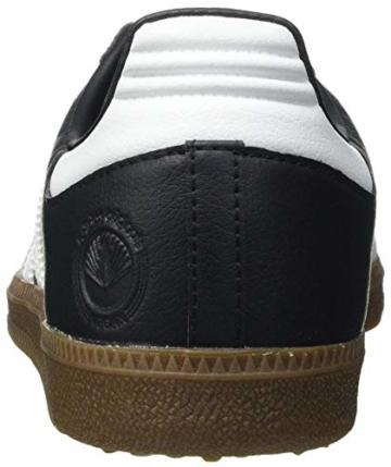 adidas Herren Samba Vegan Sneaker, Cloud White/Core Black/Gum, 45 1/3 EU - 3