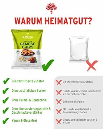 HEIMATGUT® Bio Gemüse Chips | Ballaststoffreiche & Vegane Chips aus Süßkartoffel, Roter Beete & Pastinake | Ohne Konservierungsstoffe | Ohne Palmöl & Gentechnik | Ohne Künstliche Zusätze (6 x 100g) - 6